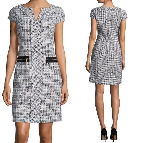 e96ad42065b Karl Lagerfeld Paris Mini Tweed Sheath Dress